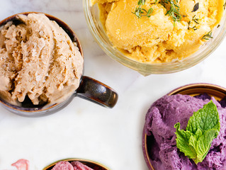 Homemade Ice Cream,  All The Flavors...