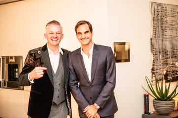 Salzgeber und Roger Federer
