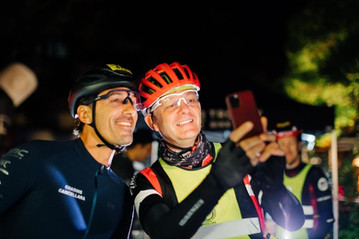 Salzgeber bei Chasing Cancellara mit Fabian Cancellara