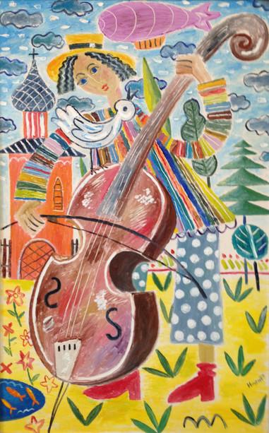 The boy-musician (diptych).