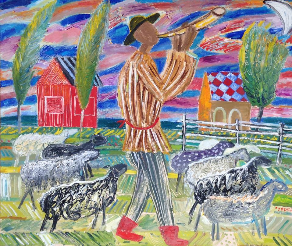 Music of the shepherd. France.