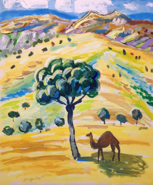 Landscape with a camel