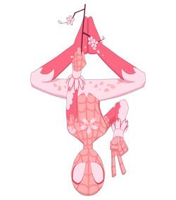 Sakura Spiderman chibi comic anime
