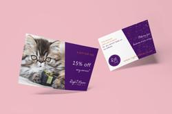 Discount-card-design-Right-Meow-promo