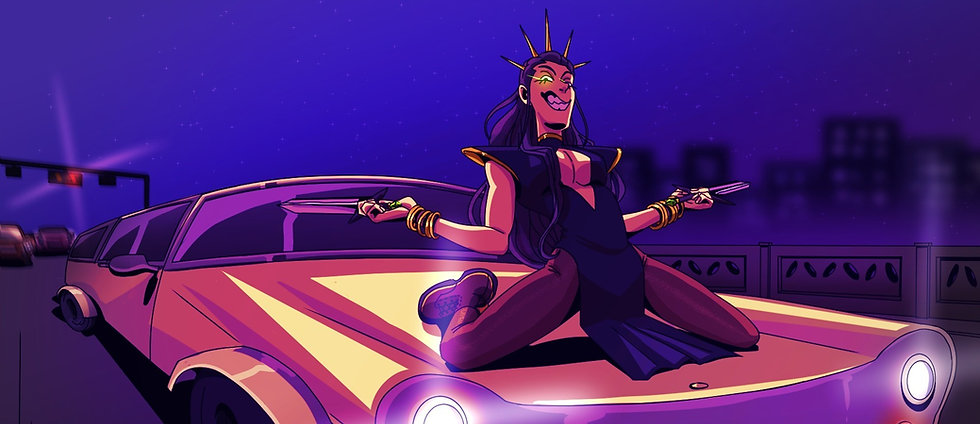 Boss Bitch - original digital art by Kira Chamberlain