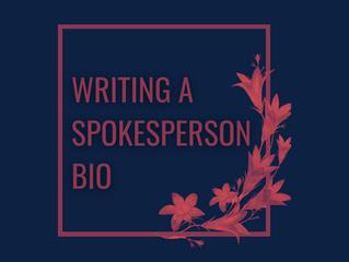 Writing a Spokesperson Bio