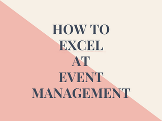 How To Excel At Event Management