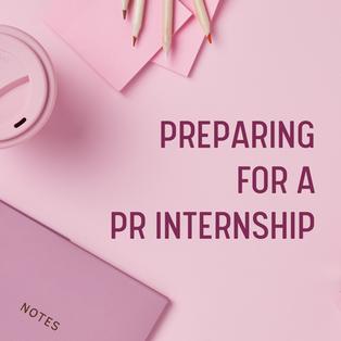 11. 5 Nov - preparing for a PR internshi