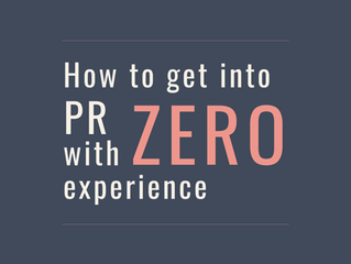 How To Get Into PR With Zero Experience