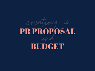 Creating A PR Proposal and Budget