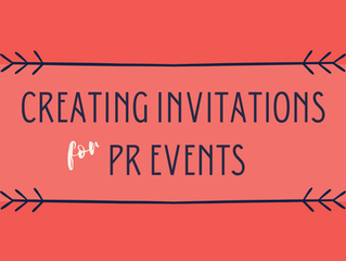 Creating Invitations For PR Events