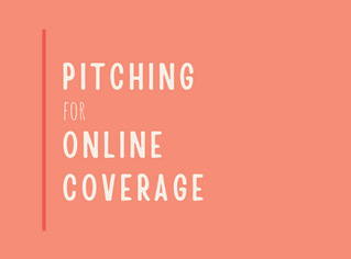 Pitching for online coverage