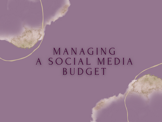Managing A Social Media Budget