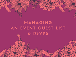 Managing An Event Guest List & RSVPs