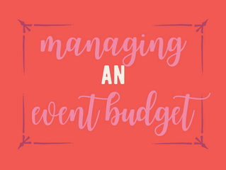 Managing an Event Budget