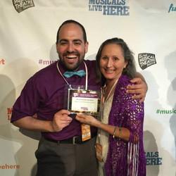 David Davila & Noemi de la Puente at the NYMF award ceremony