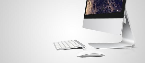 Bildschirm mit Tastatur