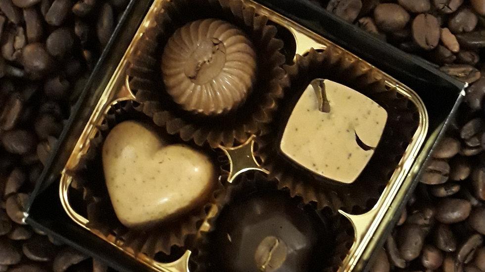Coffee Chocolate Box of 4