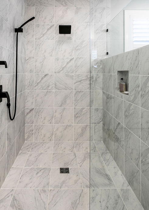 Luxury wheelchair accessible shower with