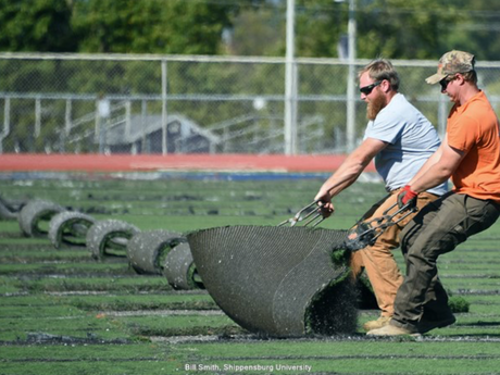 SU Begins New Turf Replacements on Two Sports Fields