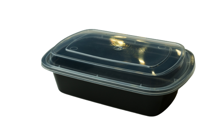 lungsang plastic container:L928,ML BLK  Rect combo(150's)