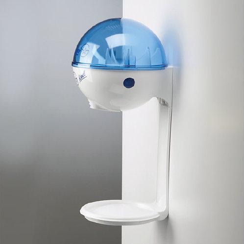 Dispenser 946 ml da muro con vassoio antigoccia -bianco/blu (refill non incluso)