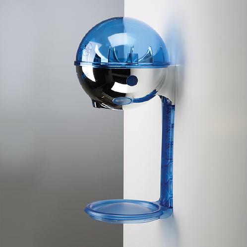 Dispenser 946 ml da muro con vassoio antigoccia - cromato/blu