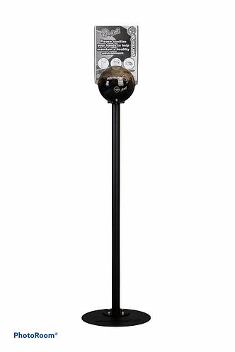Dispenser 946 ml con supporto da terra - nero/smoke
