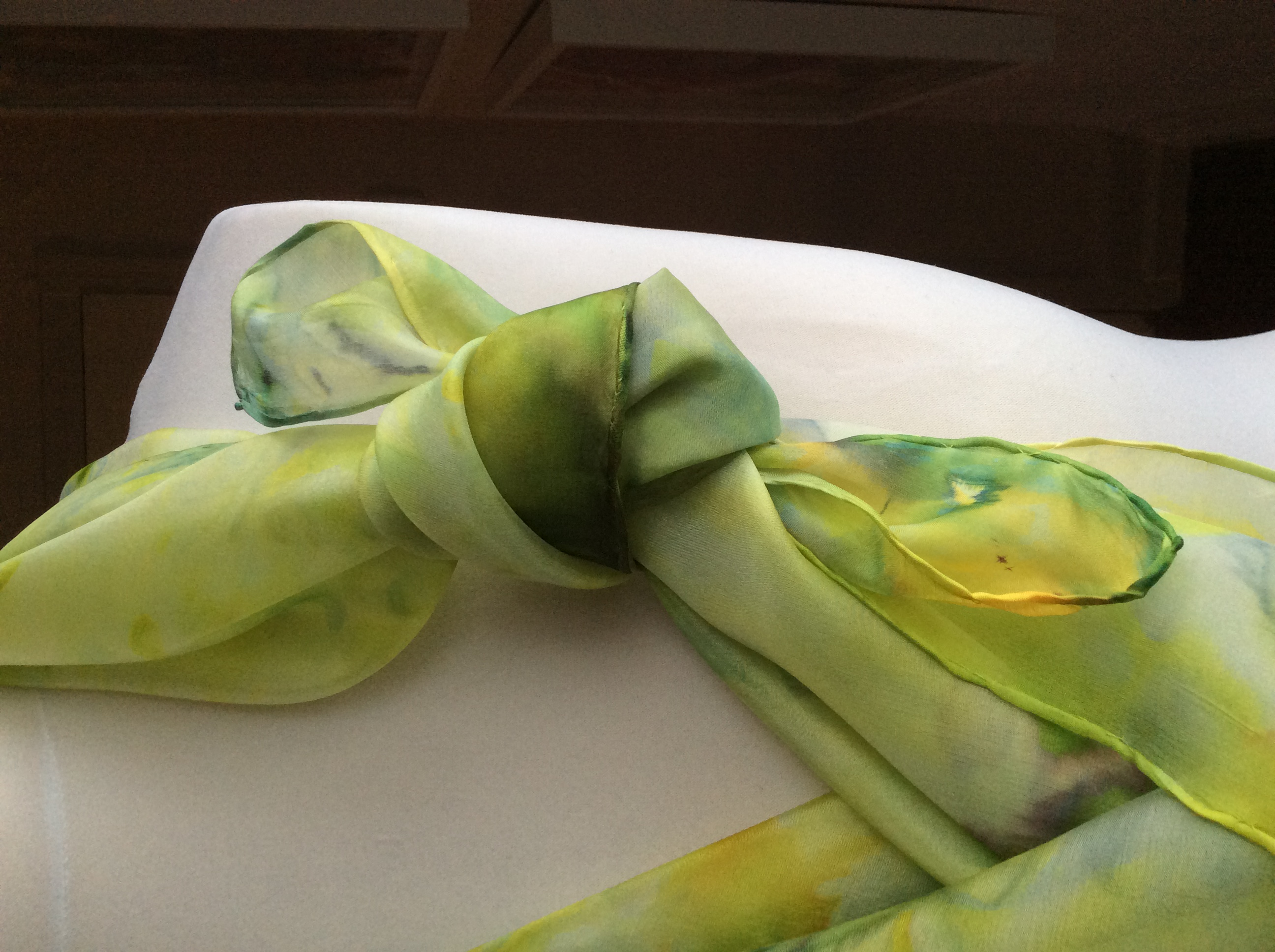 Spring Greens Large Silk Scarf