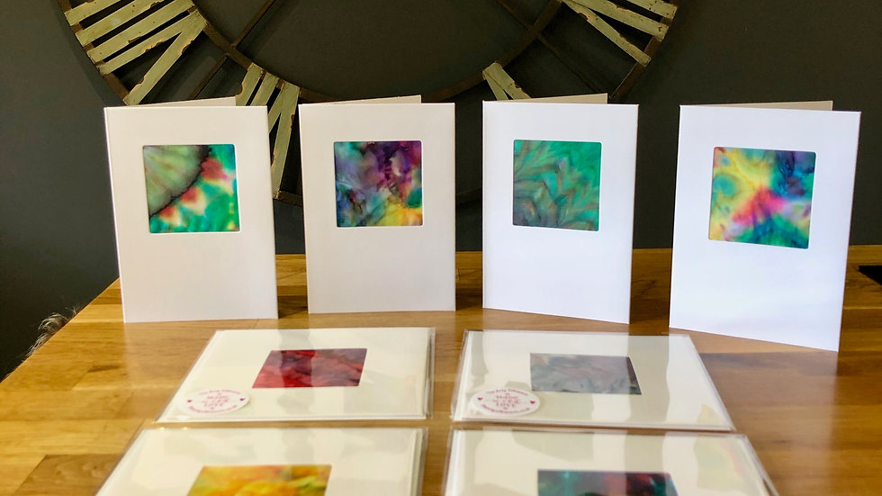 Hand-made Gorgeous Silk Greetings Cards - Per Card
