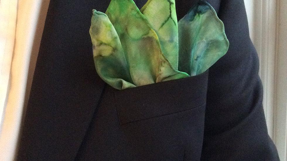 Silk Pocket Square ~ Handkerchief.Hand Crafted in Suffolk ~