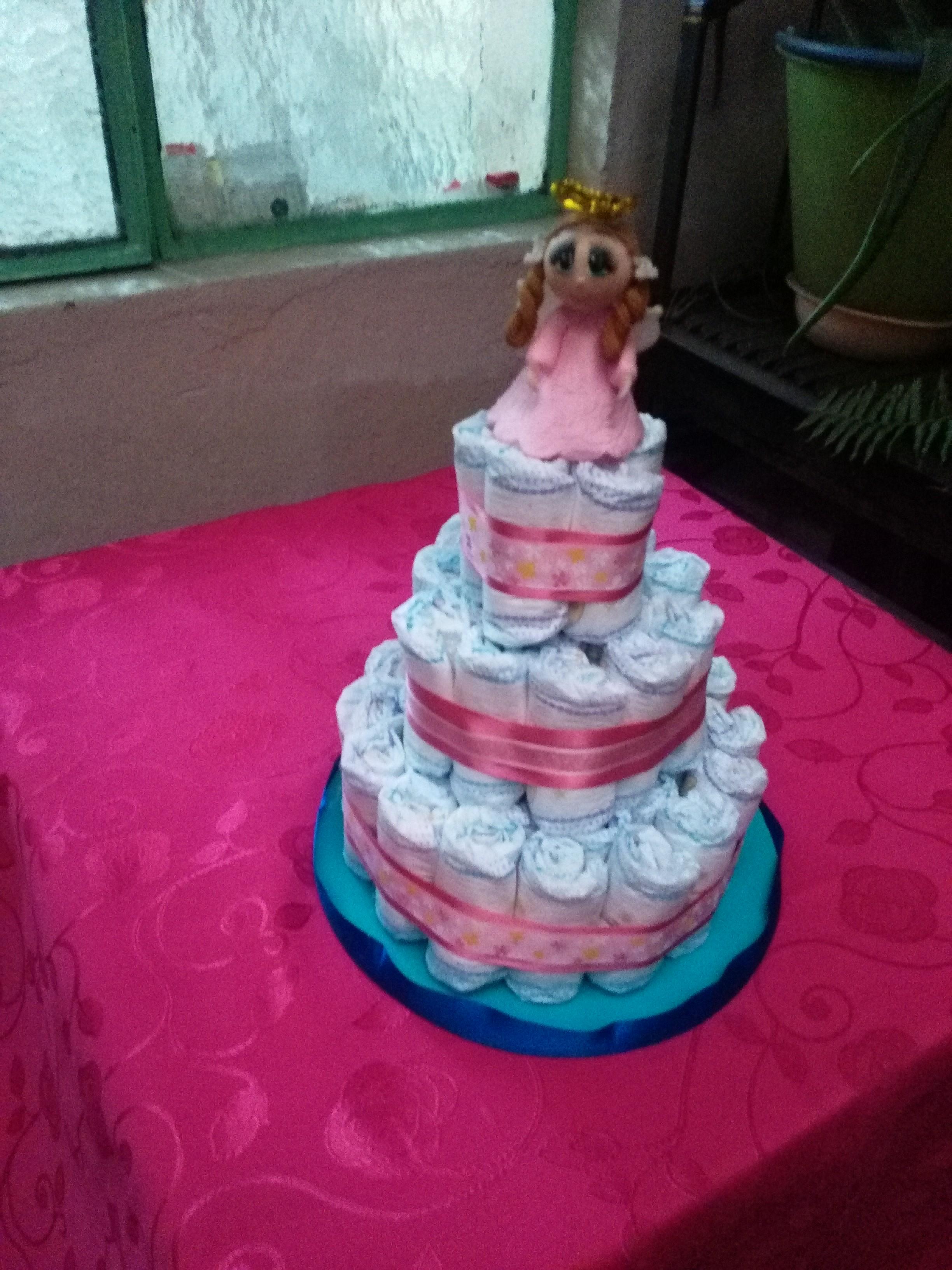 Pastel de Pañales - Decoración