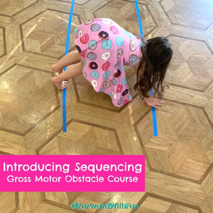 Introducing sequencing, gross motor obstacle course