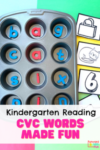 Teach kids how to read cvc words with a muffin pan and magnetic letters