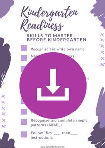 Kindergarten Readiness Checklist pdf download for free