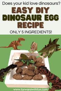 Dinosaurs on a dino egg nest