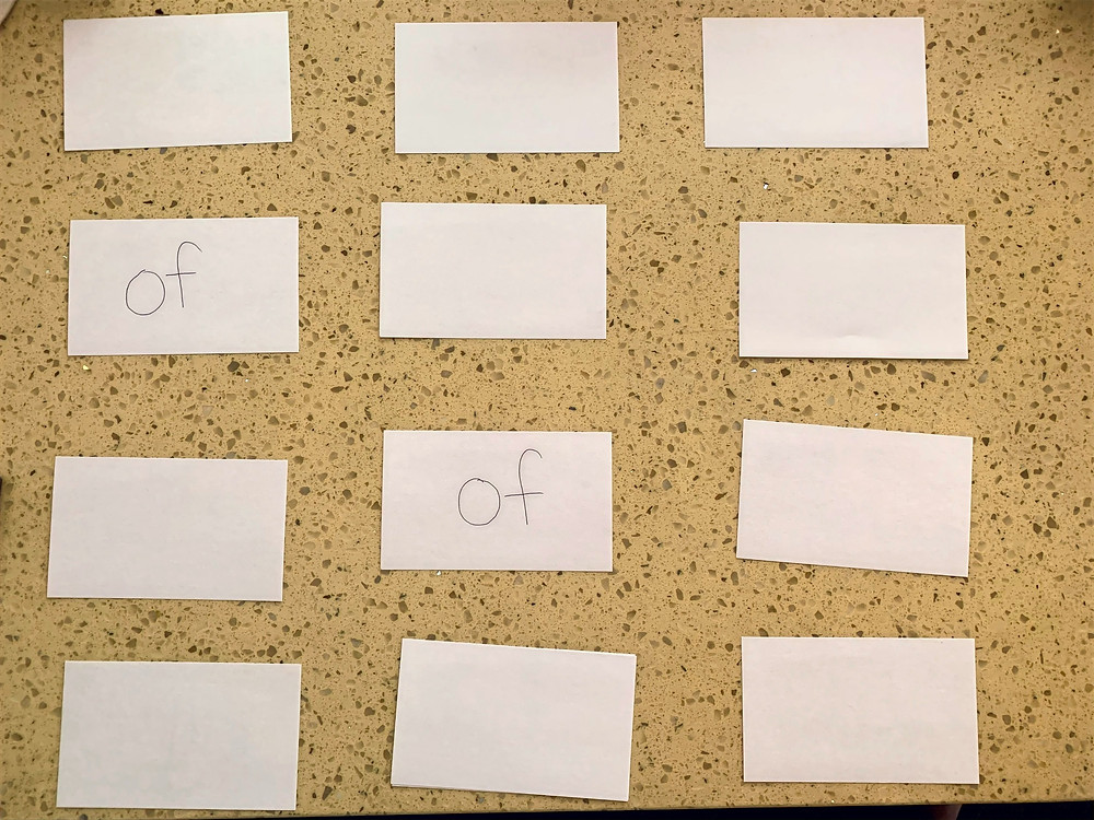 classic memory matching game using sight words