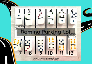 dominos are parked like cars on the number that is their sum