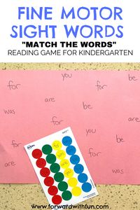 Match the words on the sticker to the page