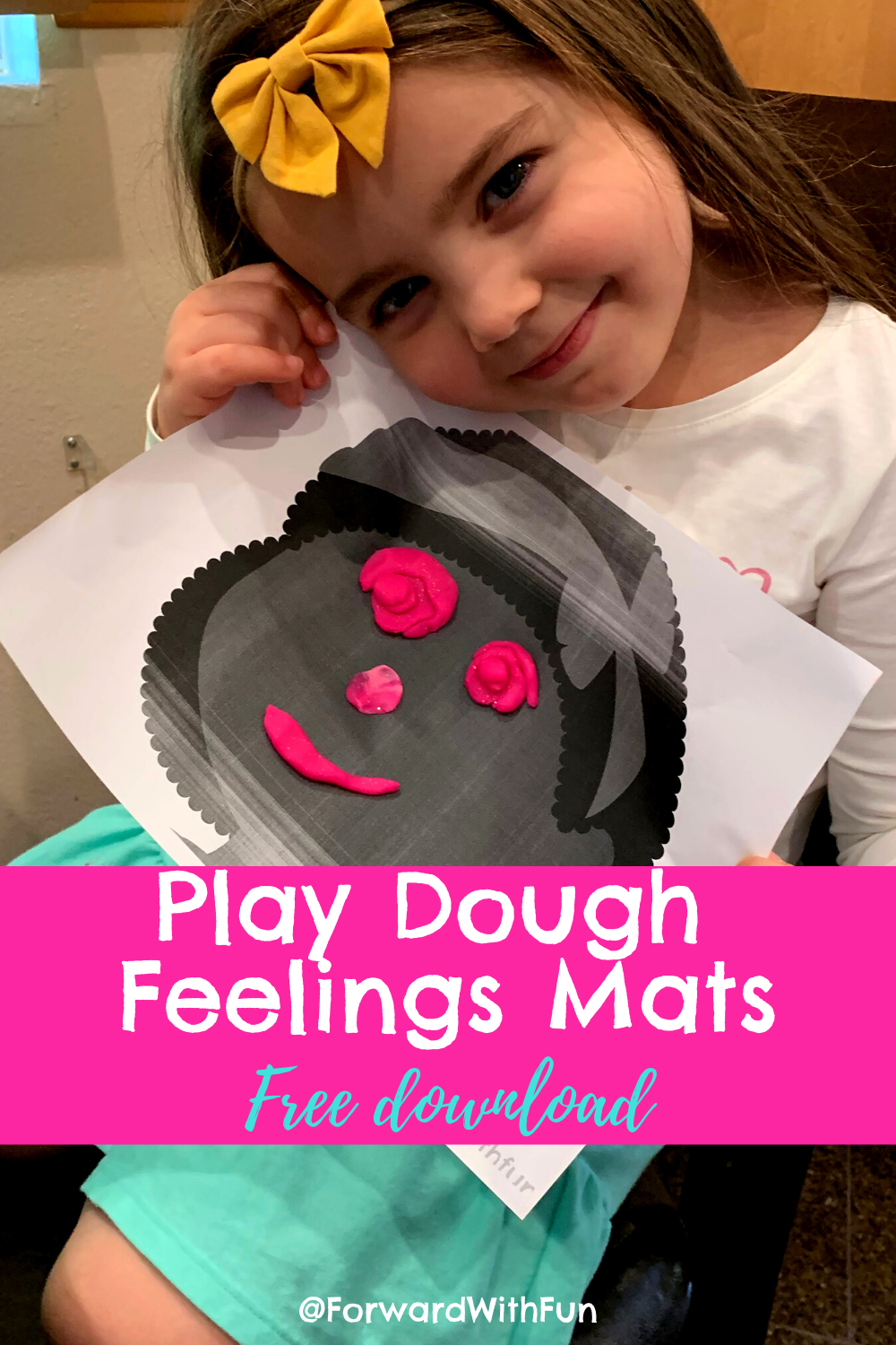 Build your child's understanding and recognition of feelings by creating Play dough faces together.