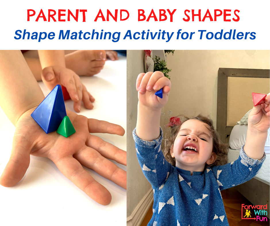 child holding shapes of different sizes