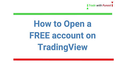 Open a FREE TradingView account