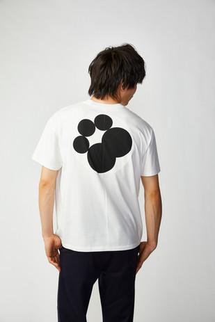 XINZANXIN五曜星Tシャツ ホワイト バック