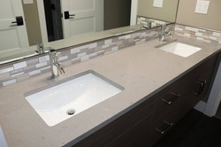 bathroom with fossil gray