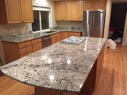 kitchen with alaska white