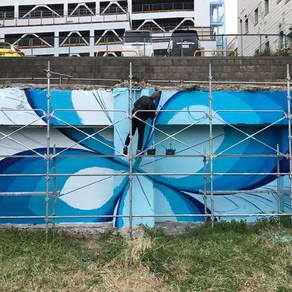 壁画制作が27日から始まりました。