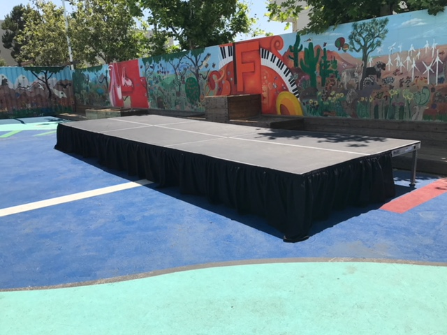 Stage with Skirting