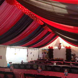 Red & Black Tent Draping