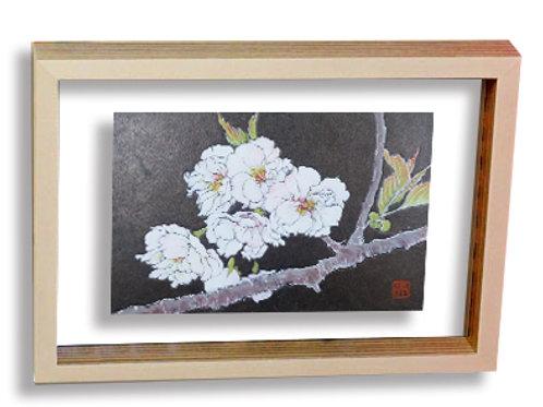 【10万円返礼品】日本画家「横尾英子」   オリジナル葉書サイズ日本画(額入り)