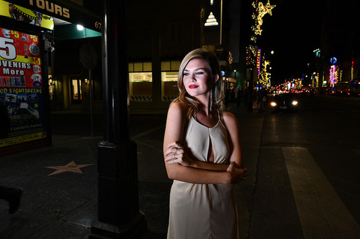Hollywood at night!